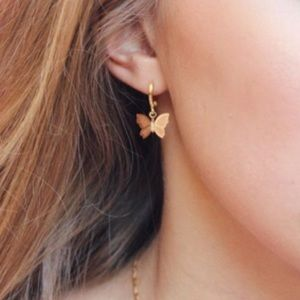 Gold Delicate Butterfly 🦋 Earrings